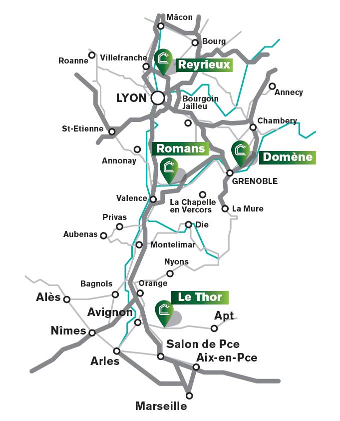 Professionnels & particuliers - Nos agences CHAMBOST MATERIAUX - Rhone Alpes Auvergne PACA