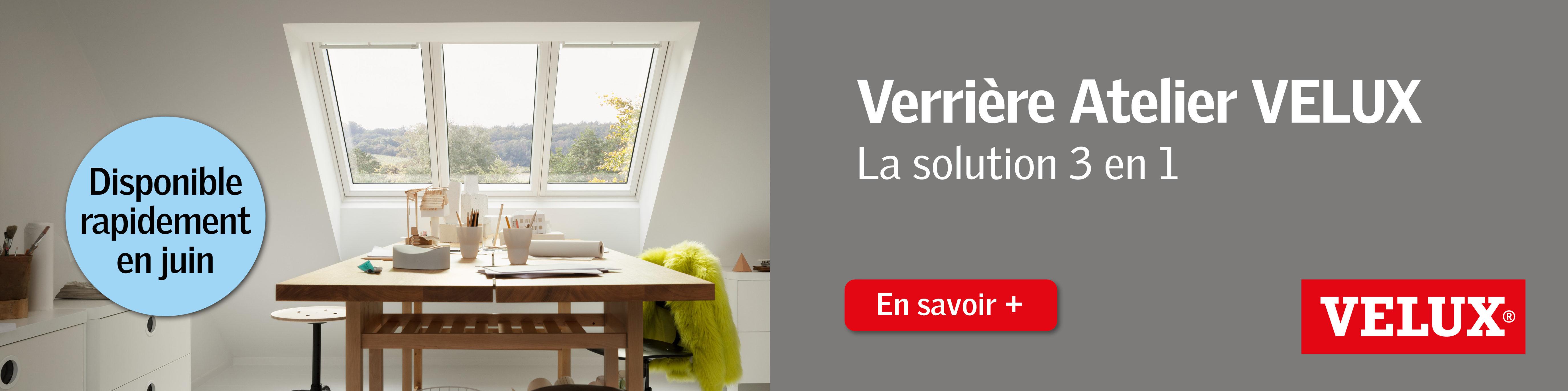 Offre spéciale VELUX – La nouvelle verrière atelier!